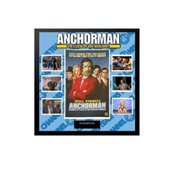 Will Ferrell Anchorman - Framed Autographed Collage