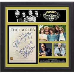 """The Eagles Autographed Lyrics """"Life In The Fast Lane"""""""