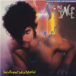 Prince Signed Let's Pretend We're Married Album