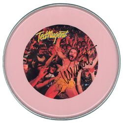 Ted Nugent Signed Drum Head