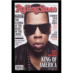 Jay Z Autographed Magazine Cover