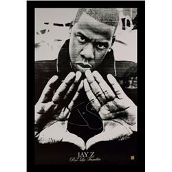Jay-Z Signed Music Poster
