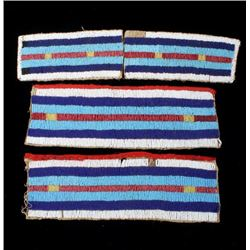 Sioux Fully Beaded War Shirt Panels c. 1800's