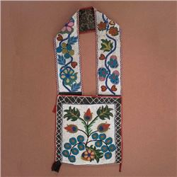 Anishinaabe Fully Beaded Bandolier Bag c. 1890