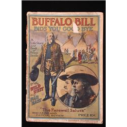 Buffalo Bill Wild West Show Original Program 1910
