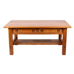 Arts & Craft Mission Quarter Sawn Oak Desk 1911-20