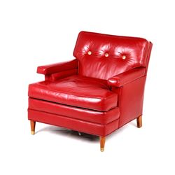 Thomas Molesworth Personal Red Leather Chair