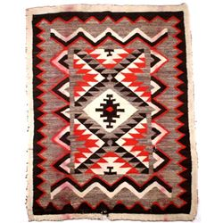 Navajo Old Crystal Trading Post Wool Rug c. 1900