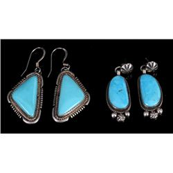 Navajo Sterling Silver & Turquoise Earrings