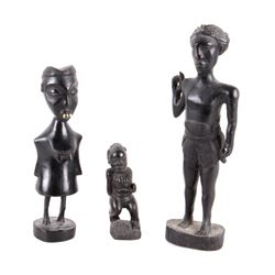 African Carved Wood Sculptures (3)