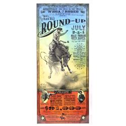 Black Hills Round-up Rodeo Poster Bob Coronato