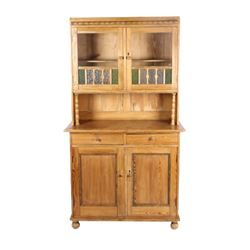 Dutch Pine Two-Part Cupboard 19th Century