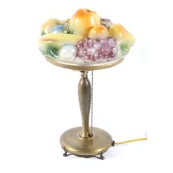 Pairpoint Puffy Fruit Table Lamp