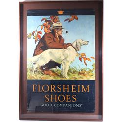 Early 1900's Florsheim Shoe Advertising Lithograph