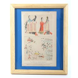 1883 Indian Drawing Fac-similes Chromolithograph