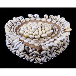 African Ivory Coast Cowrie Shell Tribal Crown