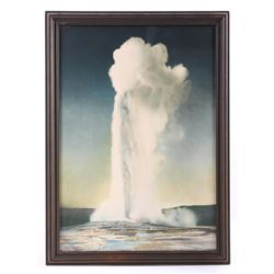 Original F. Jay Haynes Old Faithful Print