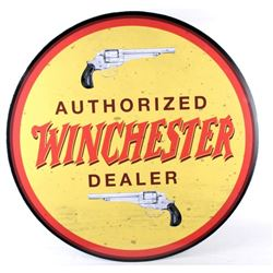 """Winchester """"Authorized Dealer"""" Advertising Sign"""