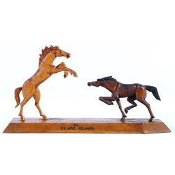 Folk Art Carved Horses