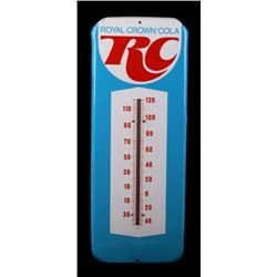 Vintage Royal Crown Cola Thermometer Tin Sign