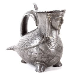 Antique Figural Pewter Tankard