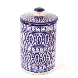Hand Painted Moroccan Lidded Canister