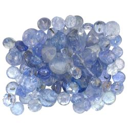 14.88 ctw Round Mixed Tanzanite Parcel