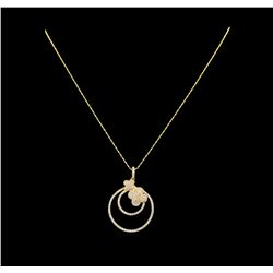 14KT Yellow Gold 1.87 ctw Diamond Pendant With Chain