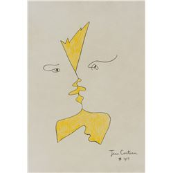 Attr. JEAN COCTEAU French 1889-1963 Ink