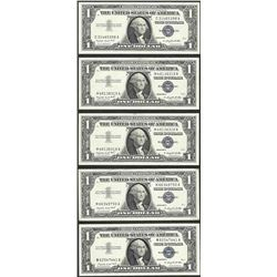 Lot of (5) 1957A $1 Silver Certificate Notes