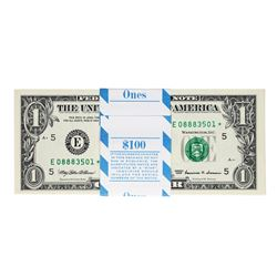 Pack of (100) Consecutive 1999 $1 Federal Reserve STAR Notes Richmond Uncirculat