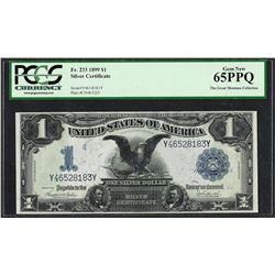 1899 $1 Black Eagle Silver Certificate Note Fr.233 PCGS Gem New 65PPQ