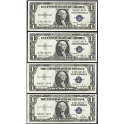 Lot of (4) 1935D $1 Silver Certificate Notes