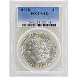1896-S $1 Morgan Silver Dollar Coin PCGS MS62