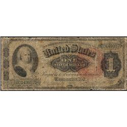 1886 $1 Martha Washington Silver Certificate Note - Splits