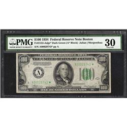 1934 $100 Federal Reserve STAR Note Fr.2152-A PMG Very Fine 30