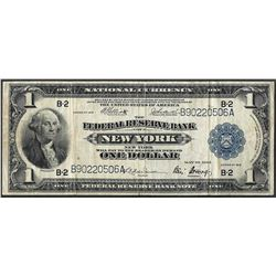1918 $1 Federal Reserve Bank Note New York