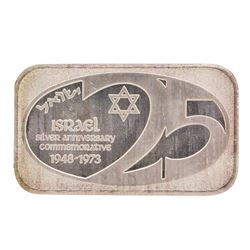 1973 Israel 1 oz .999 Fine Silver Art Bar