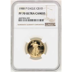 1988-P $10 American Gold Eagle Coin NGC PF70 Ultra Cameo