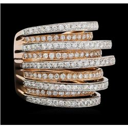 14KT Rose and White Gold 2.50 ctw Diamond Ring