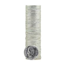 Roll of (50) 1962 Brilliant Uncirculated Roosevelt Dimes