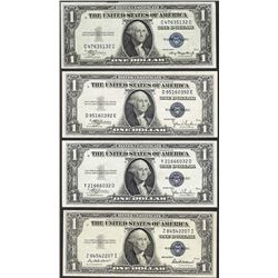 Lot of (4) 1935 $1 Silver Certificate Notes Uncirculated