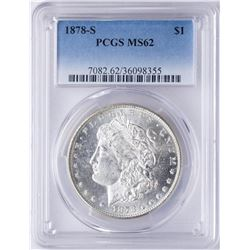 1878-S $1 Morgan Silver Dollar Coin PCGS MS62