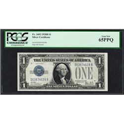 1928B $1 Funnyback Silver Certificate Note Fr.1602 PCGS Gem New 65PPQ