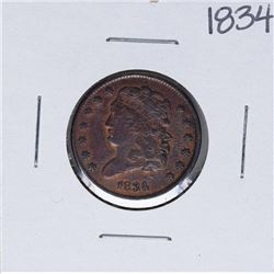 1834 Capped Bust Half Cent Coin