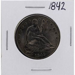 1842 Seated Liberty Half Dollar Coin