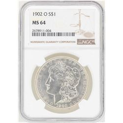 1902-O $1 Morgan Silver Dollar Coin NGC MS64