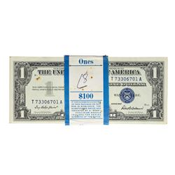 Pack of (100) Consecutive 1957 $1 Silver Certificate Notes Uncirculated