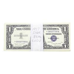 Lot of (85) 1957 $1 Silver Certificate STAR Notes