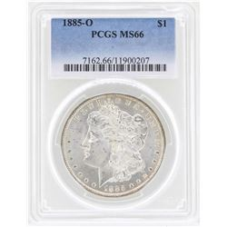 1885-O $1 Morgan Silver Dollar Coin PCGS MS66